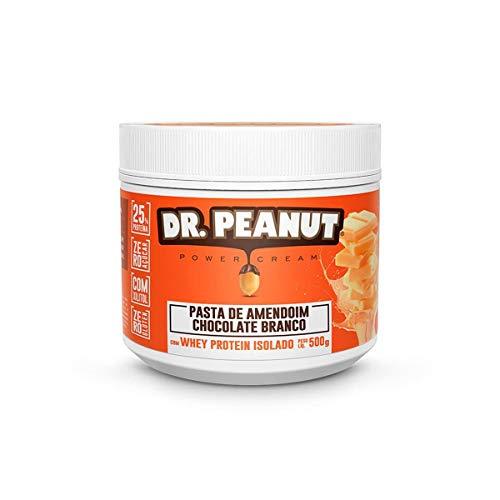 Dr. Peanut Pasta de Amendoim Chocolate Branco com Whey Isolado - 500 g