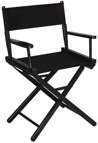 金牌 18 桌子高度黑色框架导演椅子黑色