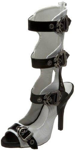 Demonia Zombie-106UV - UV-reaktive Gothic Cyber Punk Stiefeletten Schuhe 36-43, Größe:EU-39 / US-9 / UK-6