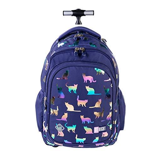 St.Right Mochila con diseño de gato y gato holográfico, ideal para la escuela o la escuela primaria o para mujer grande