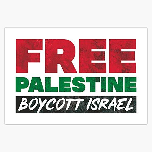 "Free Palestine, Boycott Israel Sticker Sticker Vinyl Bumper Sticker Decal Waterproof 5"""