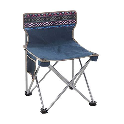 EVER ADVANCED Chaise de Camping Pliante Rembourr/és avec Dossier Haut et Support pour gobelet Sac lat/éral Charge 136 kg Bleu