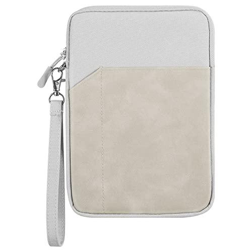 TiMOVO 7-8' Funda para Tableta Compatible con iPad Mini 5/4/3/2/1, Galaxy Tab A 8.0/7.0, Tab S2 8.0, Fire 7, Fire HD 8 (10th Gen), Portátil Bolsa Blanda de Tableta Multi-Bolsillo con Correa de Mano