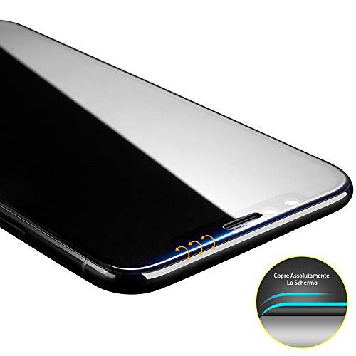 Didisky 3D Vetro Temperato per iPhone XR (6.1') / iPhone 11, [2 Pezzi] Pellicola Protettiva Copre Assolutamente Lo Schermo, Compatibile con la Cover, Trasparente (Nero)