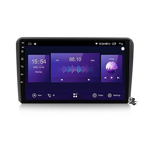 Car Stereo Sat Android 10.0 Radio para Audi A3 2006-2012, Navegación GPS Unidad Principal de 9 Pulgadas Reproductor Multimedia MP5 Receptor de Video con 4G WiFi DSP SWC Carplay