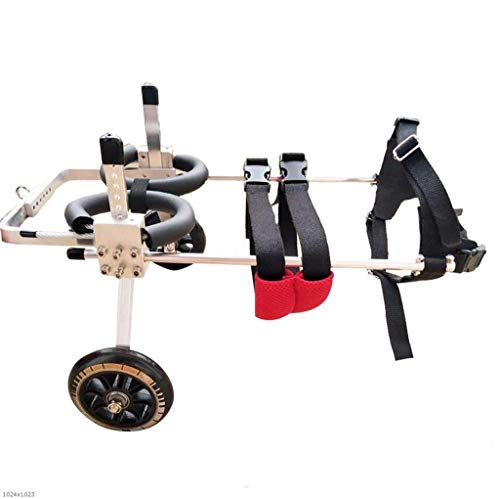 QARYYQ Verstelbare Hond Rolstoel, Hind Been Reparatie 2 Wiel Hond Kinderwagen Rehabilitatie Training Auto Huisdier autostoel