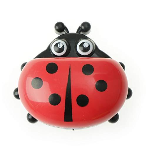 Lpiotyufzh Jabonera, Caja de jabón de Ladybug Lindo de Dibujos Animados Jabonera de Viaje Lavavajillas Caja de Almacenamiento para lavavajillas para niños Baño para niños. (Color : A)