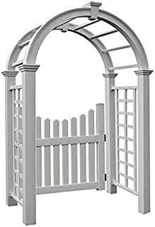 BestNest New England Nantucket Deluxe Arbor and Cottage Picket Gate