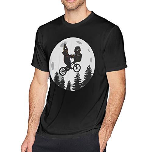 Gifetee Sesame Strange Bert and Ernie Herren Weich T Shirt Black 3XL