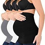Seamless Belly Band for Pregnancy with Pregnancy Support Belly Belt Bands (3pack(black+white+greg), medium)
