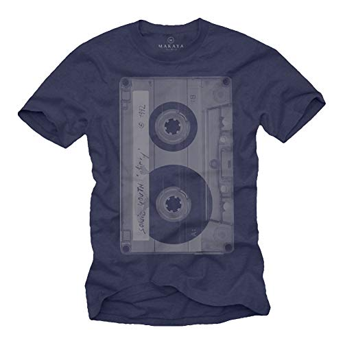 Camiseta Musica Hombre - Caseta - Azul S
