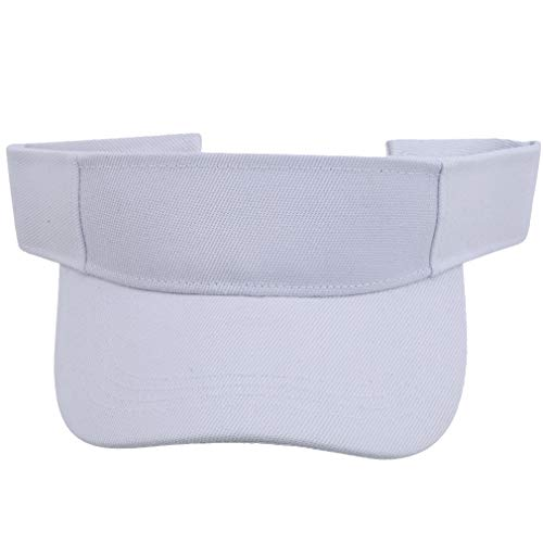 Kaned Sombrero de visera vacía, ajustable, color sólido, ala ancha, color blanco, para correr