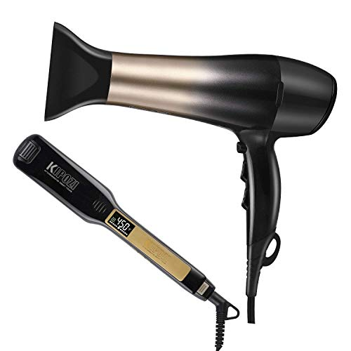KIPOZI Professional Lightweight 1875W Hair Dryer with Diffuser &...