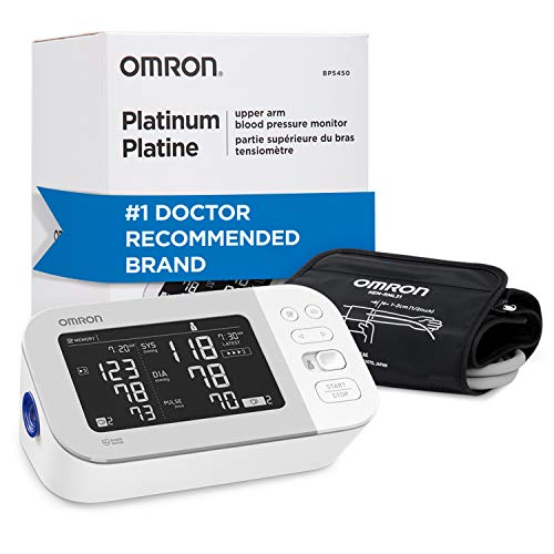 Omron Platinum Blood Pressure Monitor, Premium Upper Arm Cuff, Digital Bluetooth Blood Pressure Machine, Storesup To 200 Readings for Two Users (100...