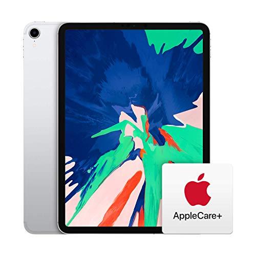 Apple iPad Pro (11-inch, Wi-Fi + Cellular, 256GB) - Silver (Latest Model) with AppleCare+ Bundle
