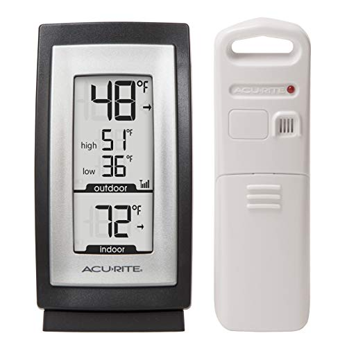 AcuRite 00831A2 Digital Thermometer with Indoor / Outdoor Temperature,Black