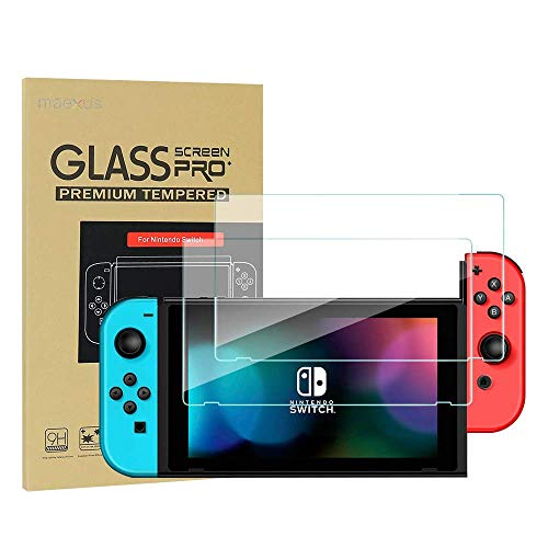 Nintendo Switch Schutzfolie, 2 Stück Switch Gehärtetem Glas Screen Protector Anti-Water,Oil für Nintendo Switch Konsole