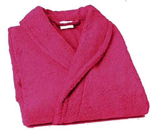Lasa Pure - Schalkragen Bademantel, Größe S, col. pink