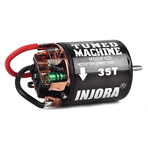 INJORA 540 Brushed Motor 35T 45T 55T for 1:10 RC Crawler Axial SCX10 AXI03007 90046 TRX4 D90 MST Tamiya CC01 (35T)