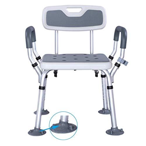 Duschstuhl, älterer Badesitz Duschstuhl  Werkzeugfreie rutschfeste Sitzbank Badewanne Hocker Sitz  mit strapazierfähigem Aluminium Legs Disability Aid