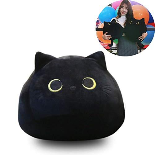 Black cat Toy,Black Cats Shape Doll Plush Toy ,Cute Black Cat Plush Toy Pillows, Creative Cat Shape Pillow, 3D Black Cat Stuffed Animal Plush Toy (55cm 21.7')