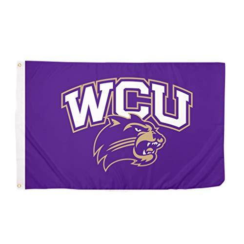 Western Carolina University WCU Catamounts 100% Polyester Indoor Outdoor 3 feet x 5 feet Flag