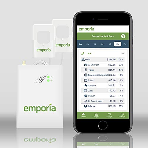 Gen 2 Emporia Vue Smart Home Energy Monitor | Real Time Electricity Monitor/Meter | Solar/Net...