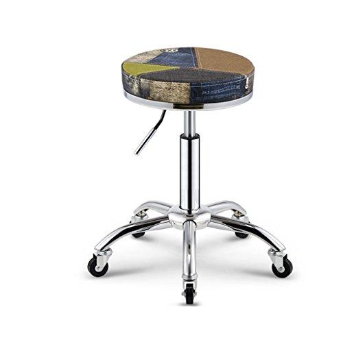Crazy stool Sgabello da Barbiere, Ascensore Trucco Negozio casalingo Bar Rotondo Sgabello bancone Bar Retro Mobile Multifunzione Creativo Salotto Sedi