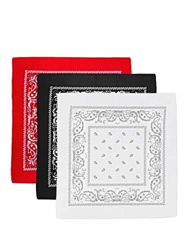 Unbekannt Bandana Kopftuch Halstuch Nickituch Biker Tuch Motorad Tuch verschied. Farben Paisley Muster, 3er Set #2, ...