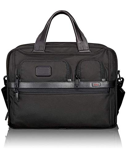 Tumi Alpha 2 T-Pass Expandable Laptop Brief, Black (Black) - 026145
