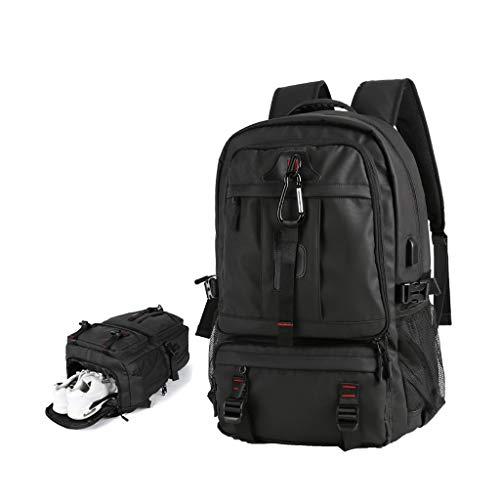 QYUU Large Capacity Men's Backpack, 60l Super Large Travel Rucksack, Multifunctional Backpack Waterproof,leisure Travel Luggage Hiking Backpack Independent Shoe Bag