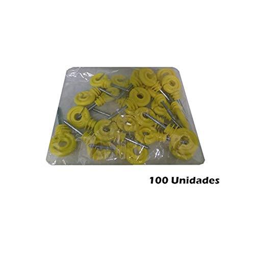 Quality 100 Unidades Aislador Rosca Madera Hilo/Cinta