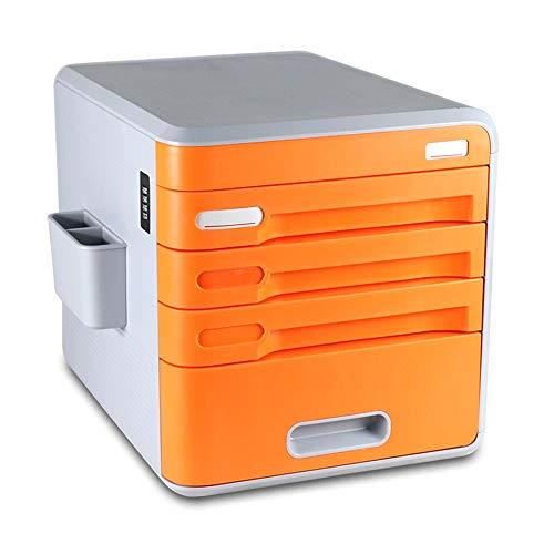 WiaLx Archivador contraseña Box Office Documento A4 gabinete 4 Cajón plástico del...