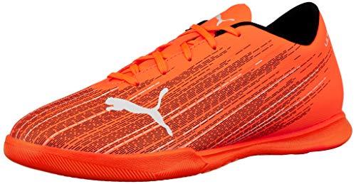 PUMA Ultra 4.1 IT JR, Zapatillas de fútbol, Naranja (Shocking Orange Black), 37.5 EU