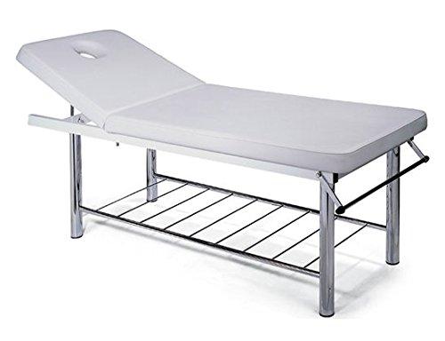 Massageligstoel voor massagestoel, professioneel, uittrekbaar Wit