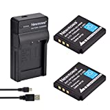 Newmowa NP-50 Replacement Battery (2-Pack) and Portable Micro USB Charger kit for Fujifilm FinePix F100fd; FINEPIX F200EXR; FinePix F300EXR; FinePix F50fd; FinePix F550EXR; FinePix F600EXR