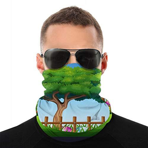 EU fantasie bloemen roze zomer ademend zonnescherm sjaal paardrijmasker multifunctioneel winddicht masker