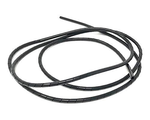 Motorfiets kabelafdekking spiraal draad hoezen - zwart - 6mm X 1.5m lang Trike Quad Atv