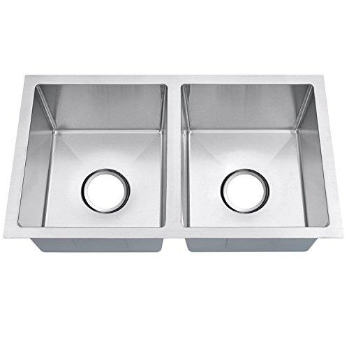 MOWA HUD33DO Pro 16 Gauge 60/40 Kitchen Double Bowl Sink