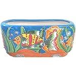 Talavera Oval Window Box Light Fish (Light Fish)