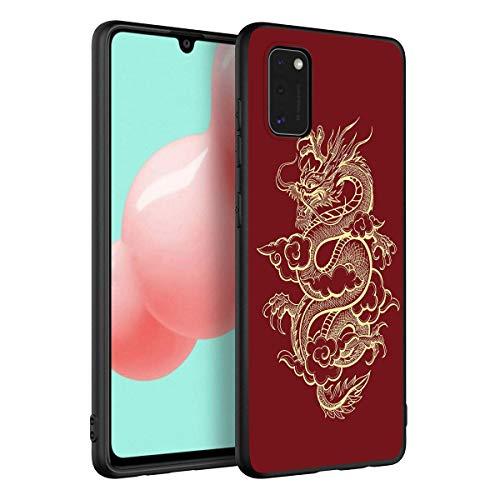 Yoedge Negro Custodia para Xiaomi Redmi Note 9/ Redmi 10X 4G 6.53″ Dibujos Animados Carcasa de Silicona Case Protectora de TPU Suave Protección Cover para Redmi 10X Teléfono Fundas,Dragón Dora