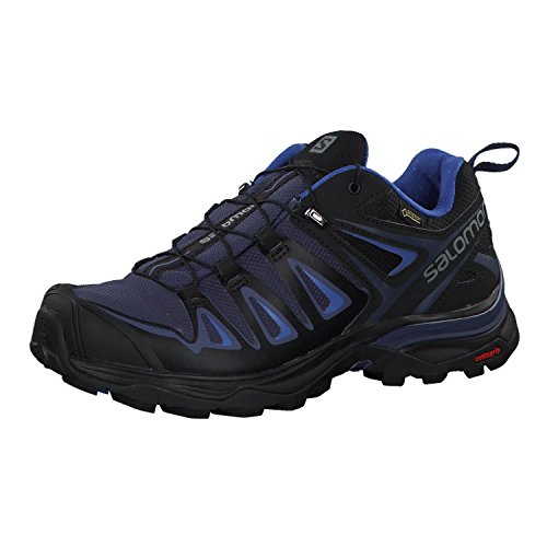 Salomon X Ultra 3 GTX W, Zapatillas de Senderismo para Mujer, Azul (Crown Blue/India Ink/Amparo Blue 000), 38 2/3 EU