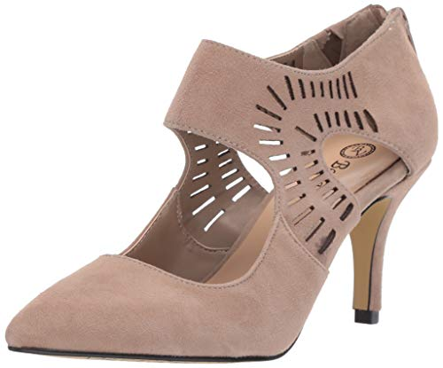 Bella Vita Women's Dani Dress Shootie with Cutouts Shoe, Almond Kidsuede Leather, 9.5 W US