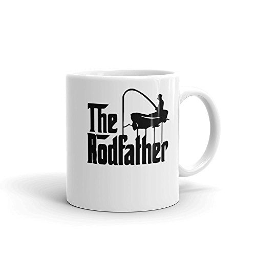 The Rodfather Funny Fishing Funny Coffee Mug for Dad Dishwasher Microwave Safe 11 Ounces