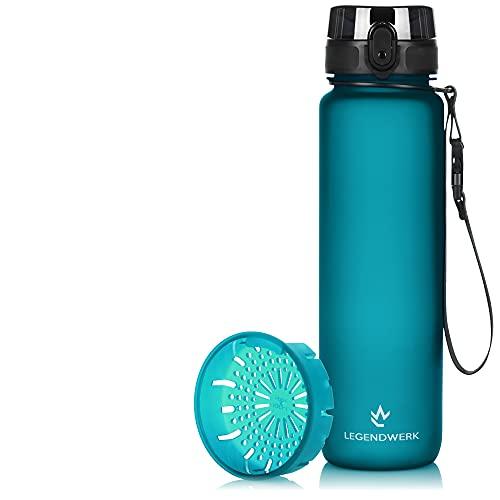 Legendwerk® 1L Trinkflasche LegendBottle Früchtesieb - BPA-Frei hergestellt aus ...