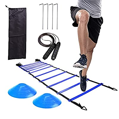 Amazon - 30% Off on Agility Ladder, Agility Ladder Speed Training Equipment – Includes Ladder with 4 Stakes