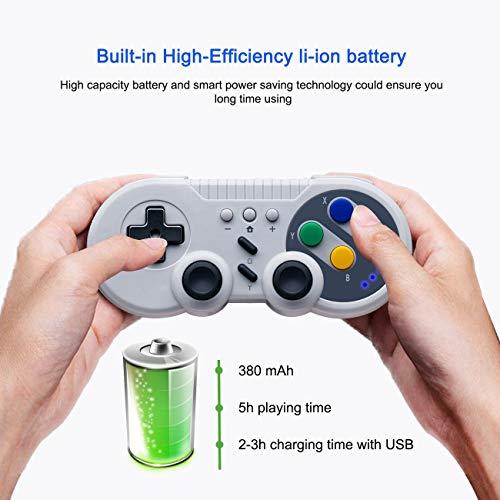 The perseids Wireless Controller für Nintendo Switch, Bluetooth Drahtloser Switch Pro Controller Gamepad Joystick mit Wiederaufladbarer Akku Unterstützt Gyro-Funktion