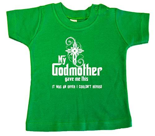 Mi madrina me dio esto, camiseta bebé Verde verde 6-12 Meses