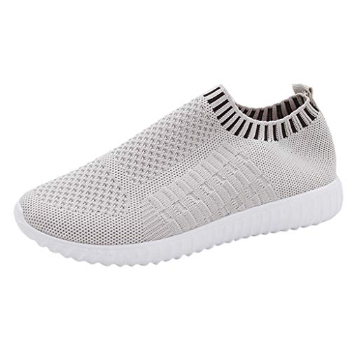 YWLINK Mode Mesh Damen Sneakers Outdoor Mesh Freizeit Sportschuhe Klassisch Atmungsaktive Laufschuhe (B Grau,38 EU)