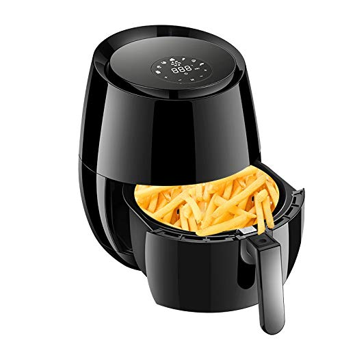 YFGQBCP Household Air Fryer, with Smart Digital Screen, Oilless Smoke-Free Electric Fryer, Nonstick, Equipped Intelligence Touch, 1400W